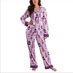 Munki Munki Women's Flannel Champagne Pajama Small